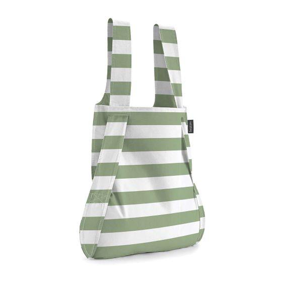 notabag Original 2in1 Tasche und Rucksack - Olive Stripes - Bild 1