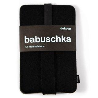 Handy Hülle BABUSCHKA aus Filz Farbe: schwarz