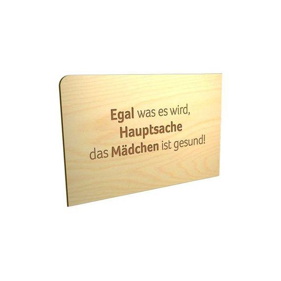 """Holz-Postkarte """"Hauptsache..."""" - Bild 1"""
