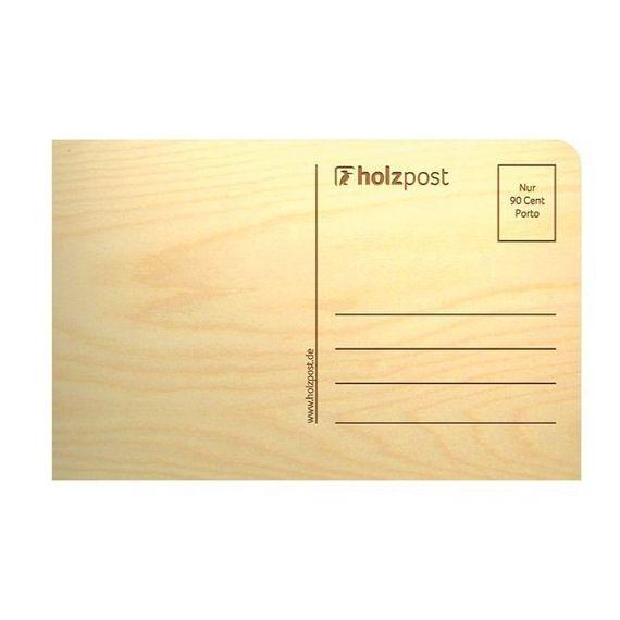 """Holz-Postkarte """"Besonderes - Happy Birthday"""" - Bild 2"""
