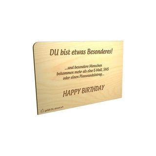 """Holz-Postkarte """"Besonderes - Happy Birthday"""""""