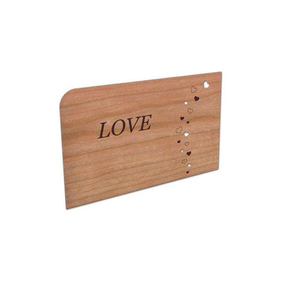 "Holz-Grußkarte ""LOVE"" - Bild 1"